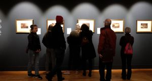 Visitors last week at the annual Turner exhibition in the National Gallery, which runs for the month of  January. Photograph: Dara Mac Dónaill