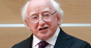 "President Michael D Higgins said  late TK Whitaker  was ""as fine an Irishman as there has been."" Photograph: Jane Barlow/PA Wire"