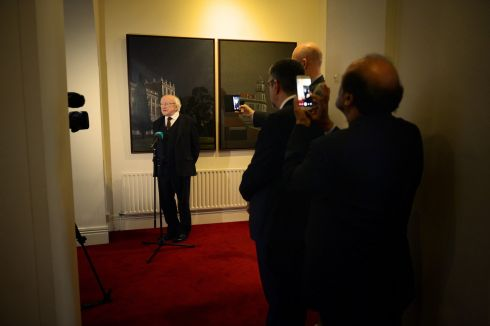 SOARES DEATH: President Michael D Higgins at the Portuguese embassy, where he signed the book of condolences for Portugal's former president and prime minister Mario Soares. Photograph: Eric Luke/The Irish Times