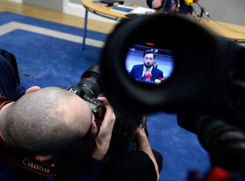 IN FOCUS: Minister of State at the Department of Finance Eoghan Murphy at a press conference to publish a plan to improve motor insurance. Photograph: Cyril Byrne/The Irish Times