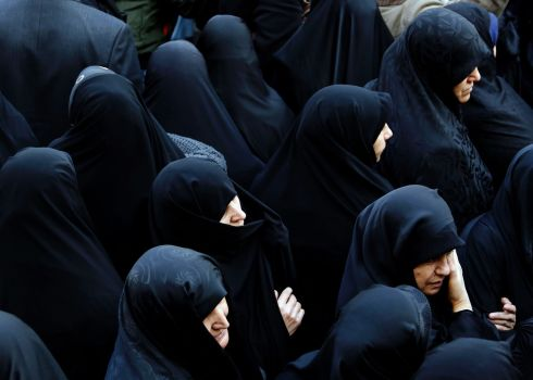 TEHRAN IN MOURNING: Iranian women attend the funeral ceremony of former Iranian president Akbar Hashemi Rafsanjani in the capital Tehran. The heavyweight politician died on Sunday aged 82. Photograph: Atta Kenare/AFP/Getty Images