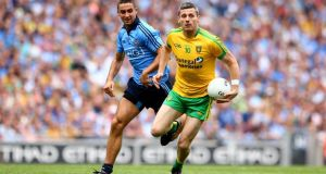 Christy Toye in action against Dublin in the All-Ireland football semi-final in 2014. Photograph: James Crombie/Inpho
