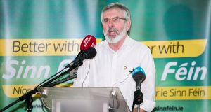 Sinn Féin president Gerry Adams: accused the DUP of not honouring the principles of powersharing. Photograph: Liam McBurney/PA