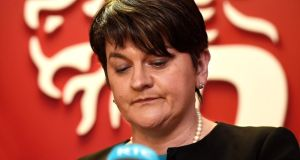 "DUP leader and Northern Ireland First Minister Arlene Foster announced plans to carry out a public inquiry into the flawed ""cash for ash"" heating scheme which precipitated this crisis. Photograph: Charles McQuillan/Getty Images"