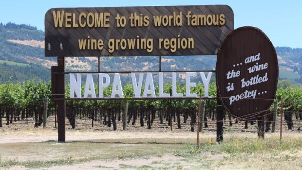 Welcome to Napa Valley sign.