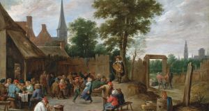 'A Village Kermesse Near Antwerp'  by David Teniers II which Lochlann Quinn bought for €2 million and donated to the National Gallery of Ireland