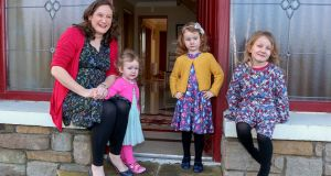 Anna-Maria Kirrane  with her daughters Ashling (2), Aoife (4) and Tara (5). Photograph: Joe O'Shaughnessy