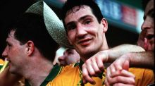 Donal Reid after Donegal's famous victory over Dublin in the 1992 All-Ireland final.  Photograph: Inpho