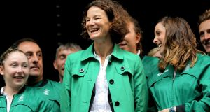 Team Ireland's chef de mission Sonia O'Sullivan during the London  Olympic Games in 2010. Photograph: James Crombie/Inpho