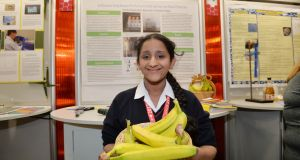 Haritha Olaganathan (13) from Adamstown Community College. Photograph: Alan Betson