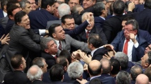 Brawl breaks out during Turkish parliament debate