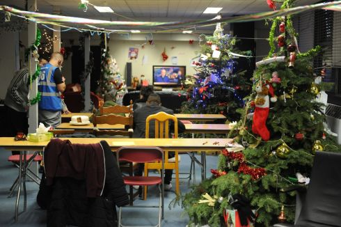 The communal area in Apollo House Dublin on New Years Day. Photograph: Aidan Crawley / The Irish Times