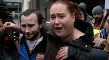 Emotional scenes as Apollo House occupants vacate the building
