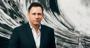 "Peter Thiel at his Manhattan home: ""Whatever the superficialities of Trump might be, he was more authentic than the other politicians."" Photograph: The New York Times"