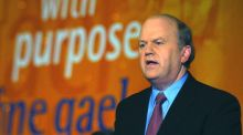 Fine Gael's Michael Noonan dismissed criticism over the State's approach to vulture funds at an Oireachtas Committee on Housing and Homelessness hearing in May 2016.