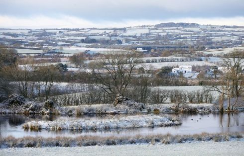 CLOUGHMILLS, ANTRIM: A snowy scene in Cloughmills, Co Antrim, as blizzard conditions were set to sweep in. Photograph: Niall Carson/PA Wire
