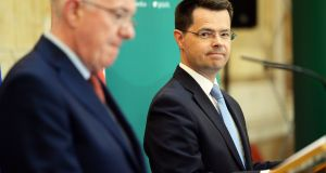 Minister for Foreign Affairs Charlie Flanagan and Secretary of State for Northern Ireland James Brokenshire are not optimistic of a resolution to the Stormont crisis. Photograph: Eric Luke