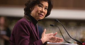 Incoming head of the US department of transportation Elaine Chao  declined  to take a position on Norwegian Air International's entry into the country. Photograph: Chris Kleponis/AFP/Getty Images