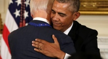 Biden and Obama quote Irish poets in emotional farewell