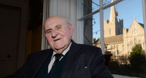 "Dean Victor Griffin, former Dean of St Patrick's Cathedral: In 1979, he was named one of the people of the year for ""an outstanding contribution to society in Ireland"". Photograph: Alan Betson"
