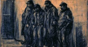 Four Beggars, c.1903, Black Chalk, 38.8 x 60.9cm. Courtesy of Museum Plantin- Moretus/Prentenkabinet, Antwerp – UNESCO World Heritage