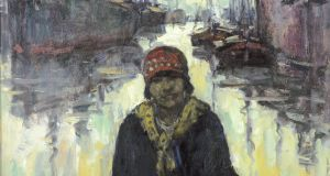 Sack Mender Before a Dock, 1926, Oil on canvas, 68 x 78cm. Image courtesy of the Province of Antwerp