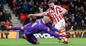 Stoke's Republic of Ireland forward Jonathan Walters is due for a spell on the sidelines as he is to undergo minor knee surgery. Photograph:  Carl Recine/Action Images via Reuters/Livepic