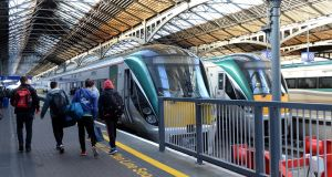 A number of Irish Rail services are experiencing severe disruption during Friday rush hour after a train broke down at Glasnevin Junction.   Photograph: Eric Luke