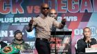Floyd Mayweather Jr: boasts of earning some $800 million during his extraordinary career.  Photograph: Mary Altaffer/AFP