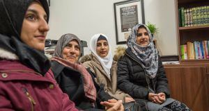 Fatima al-Hariri (2nd from left) with her daughters Tagwa, Sarra and Maisa. The family fled war-torn Syria and are living in Mosney, leaving other family members still in Turkey. Photograph: Brenda Fitzsimons