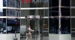 Fitch, one of the world's three leading credit rating firms, stuck to its A rating on Ireland on Friday evening