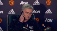 Red devilment: Jose Mourinho answers journalist's phone