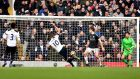 Tottenham Hotspur's Harry Kane scores his side's third goal of the game during their Premier League win over West Brom at White Hart Lane. Photo: Dominic Lipinski/PA