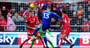 Anthony Pilkington of Cardiff City scores his side's third and winning goalagainst Bristol City. Photo: Harry Trump/Getty Images