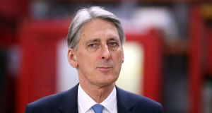 British chancellor Philip Hammond has said Britain may be forced to change its economic model if it is locked out of the single market after Brexit. Photograph: Jane Barlow/PA Wire