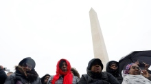 Anti-Trump protests kick off with Washington civil rights march