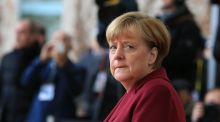 "Angela Merkel said ""protectionist tendencies"" were one of the main risks to Germany's economy. Photograph: Krisztian Bocsi/Bloomberg"