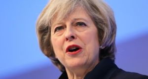 British prime minister Theresa May is expected to say this week that Britain is prepared to leave both the single market and the EU's customs union. Photograph: Jonathan Brady/PA Wire