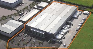 The building at Aerodrome Business Park in Rathcoole, Co Dublin, has a gross external area of 16,006sq m (172,295sq ft) including three-storey offices extending to 987sq m (10,629sq ft).