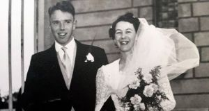 Pat and her husband Paddy on their wedding day