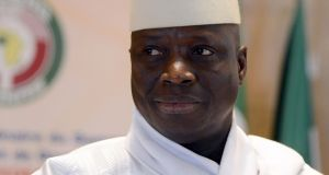 Gambia's long-time president Yahya Jammeh, who initially accepted his defeat in a presidential election in December, but then changed his mind. Photograph: Issouf Sanogo/AFP/Getty Images