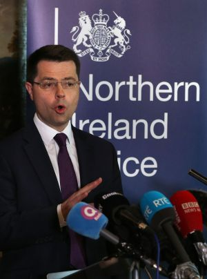 Northern Ireland Secretary James Brokenshire speaking in Stormont House, Belfast where he called a snap Stormont Assembly election for March 2nd.  Photograph: Niall Carson/PA