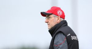 "Tyrone manager Mickey Harte: ""The pressure is to deliver the best of ourselves; that's the only pressure I can entertain."" Photograph: Andrew Paton/Inpho/Presseye"