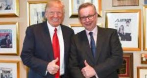 Michael Gove is simply Donald Trump's cheerleader, glossing over inconsistencies and ignorance, writes Jonathan Freedland.