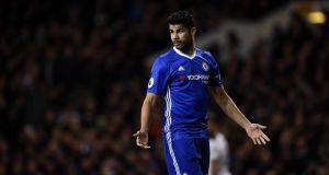 Chelsea's Diego Costa has had his head turned by interest from China. Photograph: Dylan Martinez/Reuters