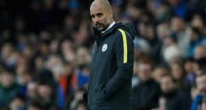 Pep Guardiola is facing the toughest challenge of his managerial career. Photograph: Lee Smith/Reuters