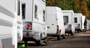 'Some 12 per cent of Travellers live in caravans or mobile homes and 56 per cent 'live in overcrowded accommodation', the ESRI has found.' Photograph: Chris Radburn/PA Wire