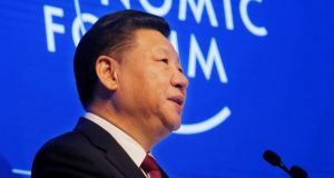 "Chinese president Xi Jinping told a packed audience at the World Economic Forum in Davos ""the global economy is a big ocean you cannot escape from"". Photograph: AP Photo/Michel Euler"
