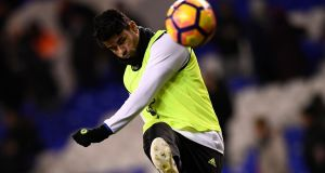 Chelsea's Diego Costa returned to first team training on Tuesday. Photograph: Reuters