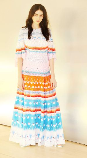 Maria Boardman wears a Peter Pilotto dress (€2,075) from the BT collection. Photograph: Leon Farrell/Photocall Ireland